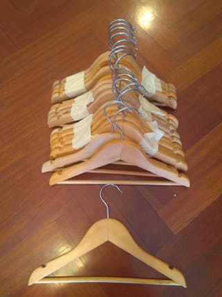 15 perchas infantil de madera