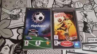 Pack Fifa street 2 y Play chapas PSP