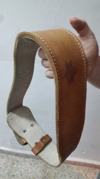 Cinturón culturismo de cuero