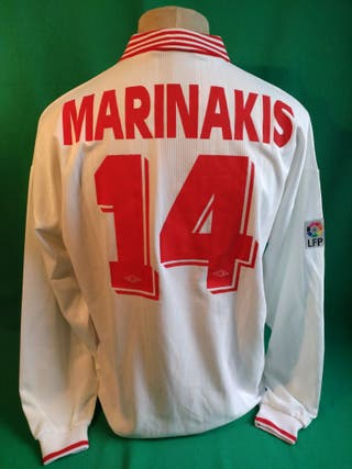 Camiseta Umbro Sevilla FC Match worn Marinakis 96