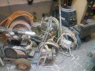 Lote herramientas. airles, lijadora, compresor