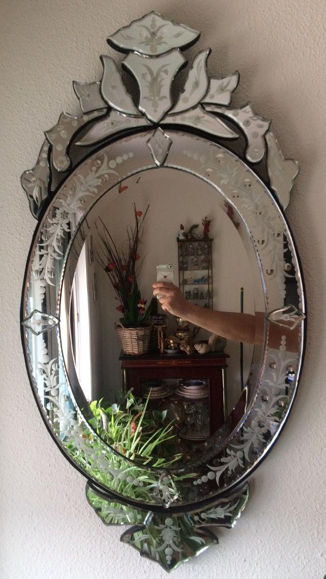 Antiguo espejo veneciano de segunda mano por 650 en - Espejo veneciano antiguo ...