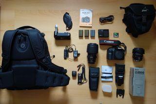 Camara Reflex Canon EOS 40D + MUCHOS EXTRAS
