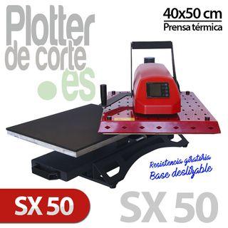 Prensa térmica SX50 con plato deslizante