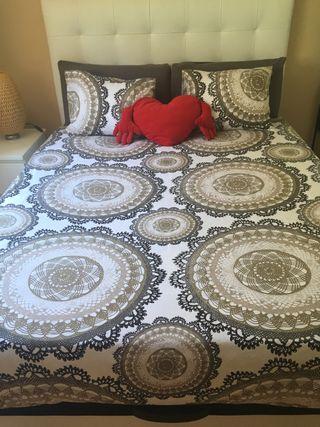 Cama canapé con colchón viscoelastico