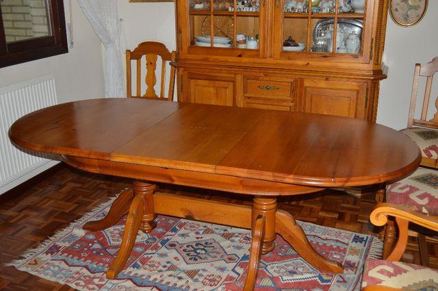 Mesa Comedor ovalada, extensible de segunda mano por 200 € en ...