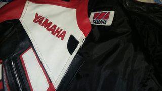 chaqueta/cazadora cuero moto Yamaha, talla m