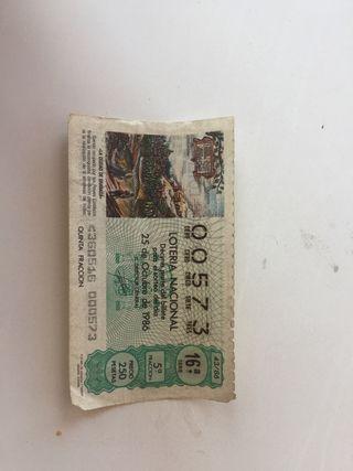 Décimo de lotería antiguo