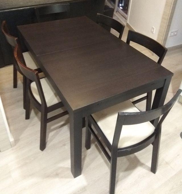 mesa saln comedor con sillas - Sillas Y Mesas De Salon
