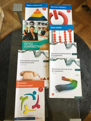 Libros 1er curso Gestión Administrativa