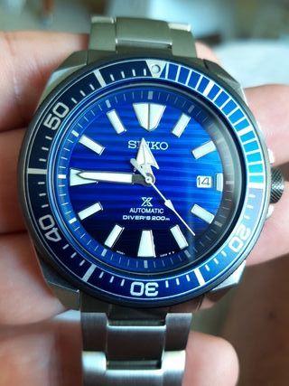 SEIKO SRPC93KI SAMURAI SAVE THE OCEAN