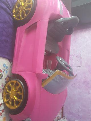 coche bateria audi rosa