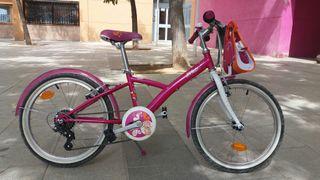 "Bicicleta de 20"" marca btwin"