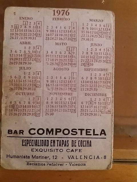 Calendario 1976.Calendario 1976 De Segunda Mano Por 2 499 En Godella En