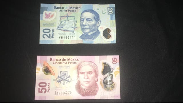 Pesos Mexicanos Billetes 20 y 50
