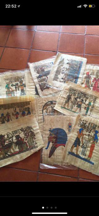 12 PAPIROS EGIPCIOS ORIGINALES