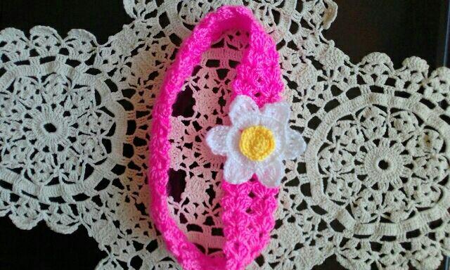 Diadema Felpa A Crochet Ganchillo Con Margarita De Segunda Mano Por - Diadema-ganchillo