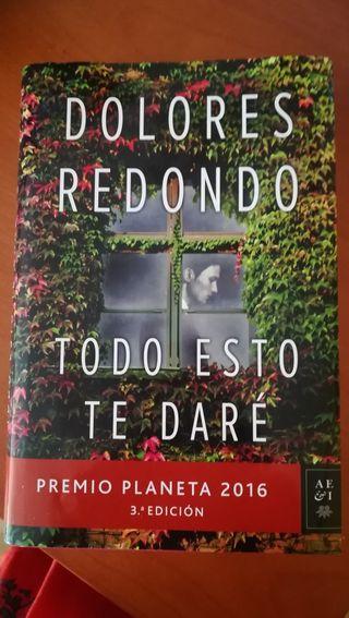 libro Todo esto te daré Dolores Redondo