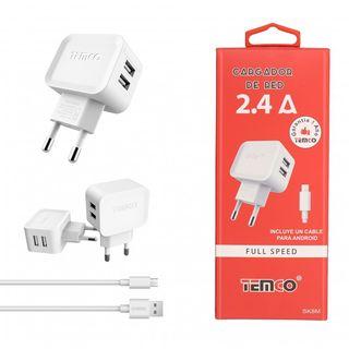 CARGADOR U 5V 2.4A Y CABLE MICRO USB