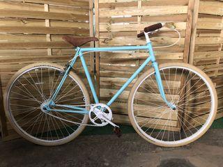 Bicicleta fixie restaurada