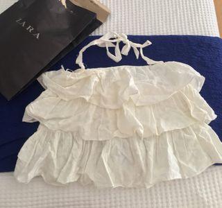 Blusa Zara blanca de segunda mano en Collado Villalba en
