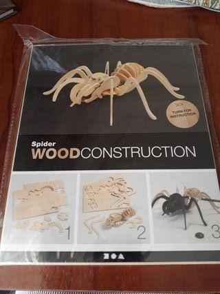 Araña de madera para montar y pintar