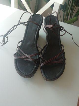 sandalias cuñas talla 40