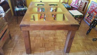 Mesa comedor madera maciza pino mexicano de segunda mano por