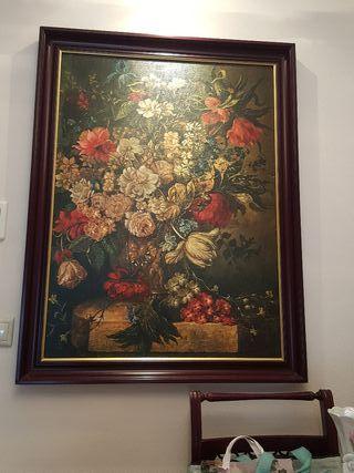 Enorme cuadro pintado a mano