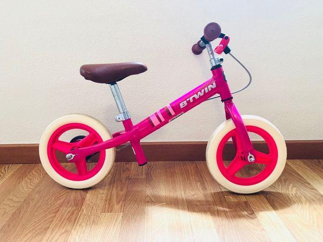 Bicicleta evolutiva con freno trasero.
