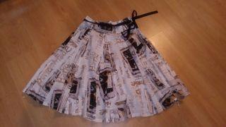 Falda plisada Desigual T38