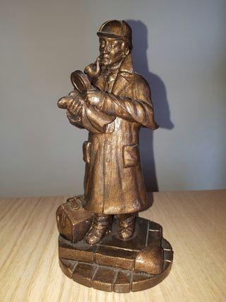 Sherlock Holmes. Figura de resina.