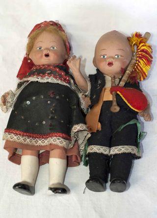 Muñecos antiguos terracota