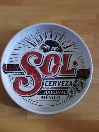 bandeja profesional cerveza mexicana sol