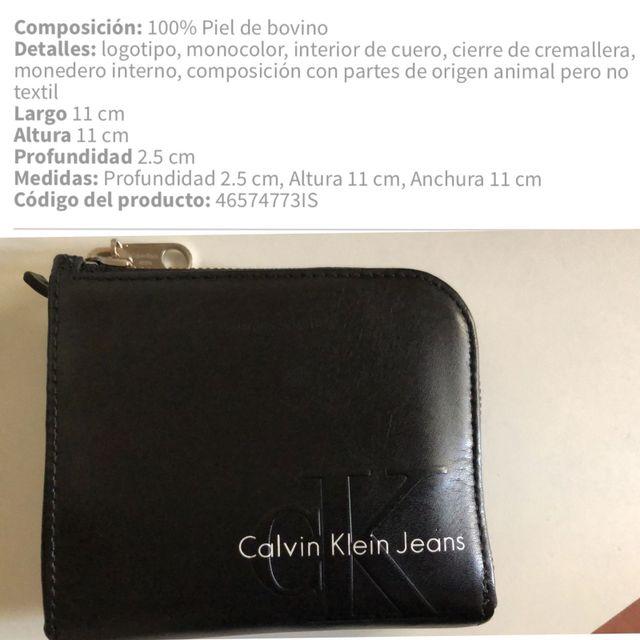 293aa7c47 Monedero tarjetero cartera Calvin Klein piel de segunda mano por 32 ...