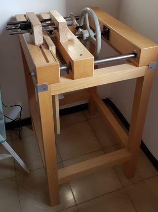 Ingenio y prensa de cajos encuadernación