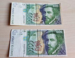 Billete 1000 pesetas Francisco Pizarro