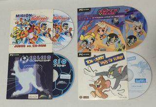 Juegos variados para pc cd-rom año 2002