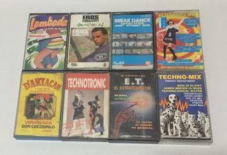 Cassettes variados años 80/90