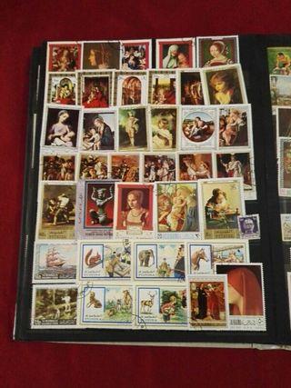 álbum de sellos antiguos
