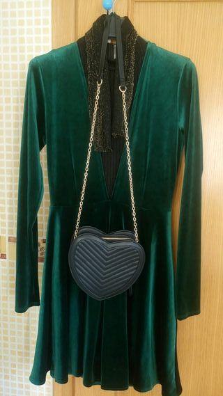 Vestido verde fiesta stradivarius