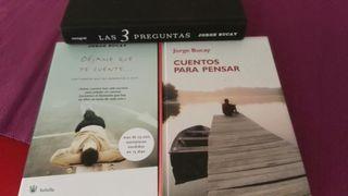 3 libros Jorge Bucay uno con audio