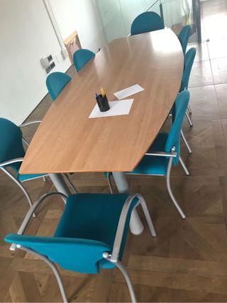 Mesa juntas oficina, 8 sillas