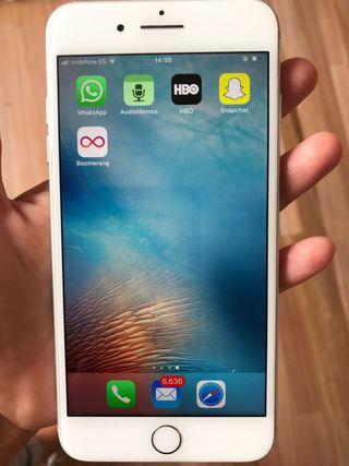 iPhone 7 Plus 128 gigas plata