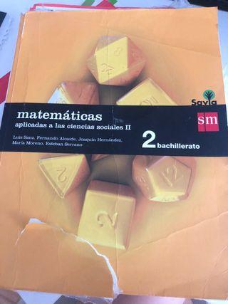 Libro de matemáticas de 2 de bach