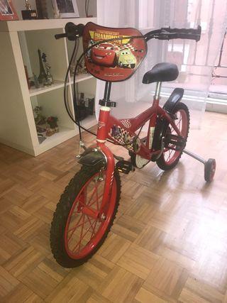 Bicicleta con ruedines para Niño