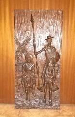 Don Quijote y Sancho Panza Cervantes arte