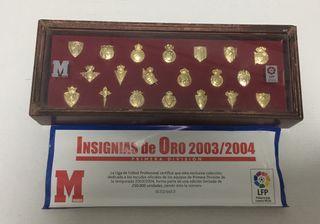 Coleccion 20 pins bañados en oro liga 2003/4