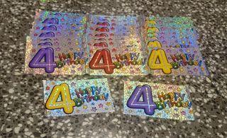 Banners 4 cumpleaños. 8 grandes y 2 pequeños