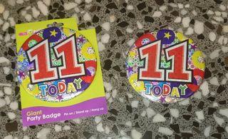 11 Cumpleaños. 2 badges.